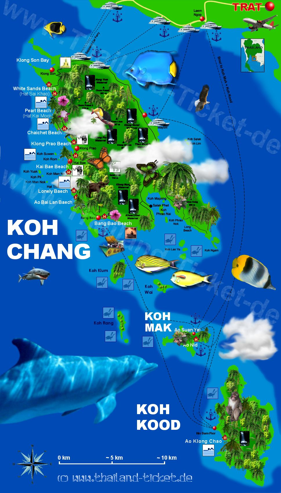KOH CHANG HOTELS Thailand East
